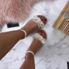 Dámske pohodlné béžové sandálky
