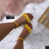Dámske pohodlné žlté sandálky
