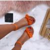 Dámske pohodlné oranžové sandálky