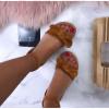 Dámske pohodlné hnedé sandálky