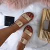 Letné sandálky farby champagne