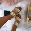Letné sandálky zlatej farby