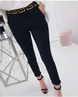 Čierne štýlové nohavice