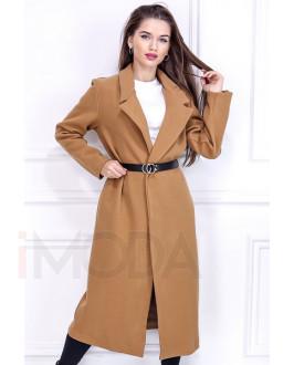 Hnedý prechodný dlhý kabát