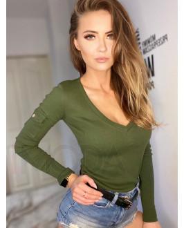 Zelené bavlnené tričko