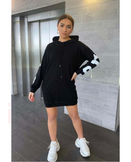 Čierne bavlnené šaty