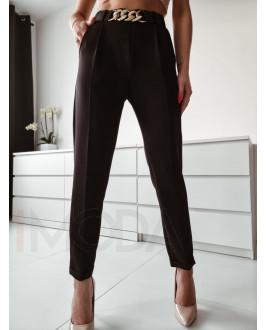 Čierne elegantné nohavice