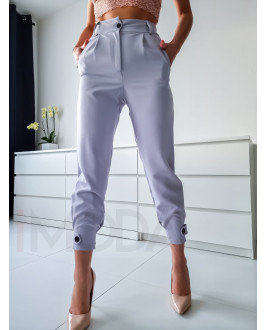 Sivé trendy nohavice