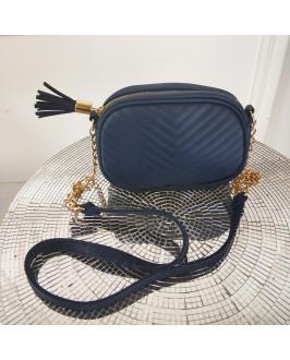 Tmavomodrá dámska kabelka
