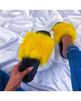 Žlté chlpaté šľapky