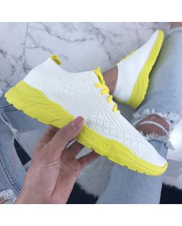 Bielo-žlté dámske tenisky