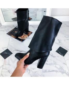 Čierne vysoké kotničky