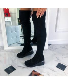 Čierne vysoké čižmy