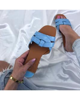 Modré dámske šľapky
