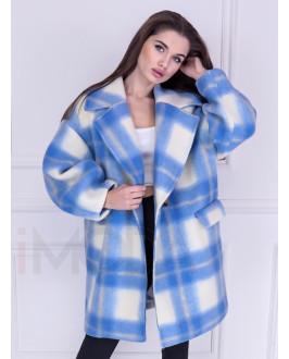 Modrý  štýlový kabát