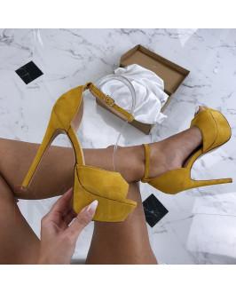Dámske žlté sandálky