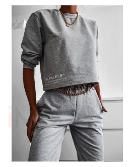 Sivá  bavlnená tepláková  súprava