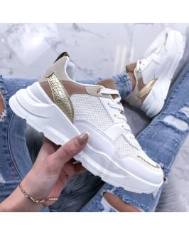 Bielo zlaté tenisky
