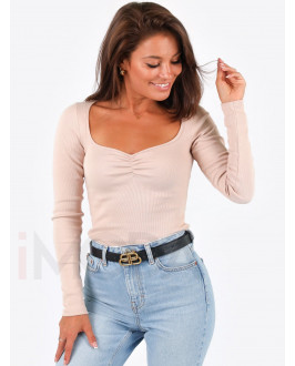 Béžové trendy tričko