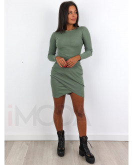 Zelené asymetrické šaty