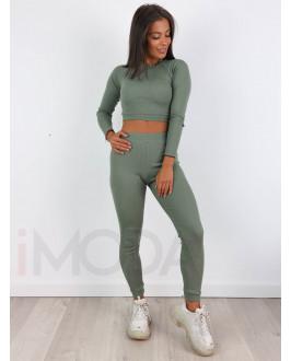 Zelený bavlnený komplet