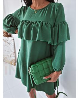 Zelené padavé šaty