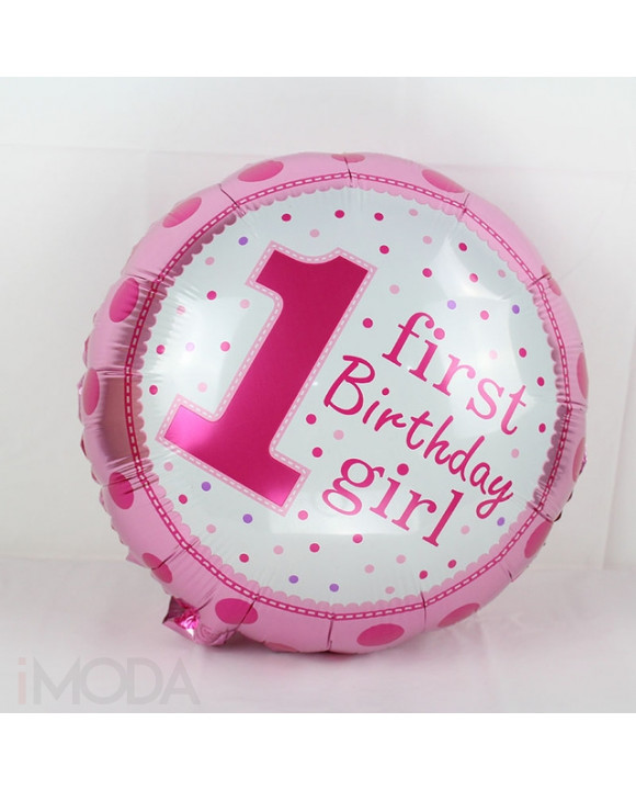 Ružový balón 1 narodeniny