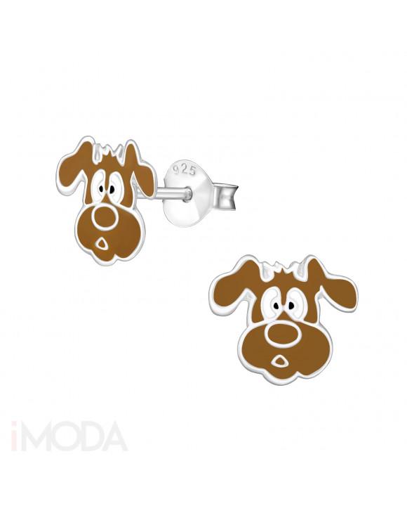 Detské strieborné náušnice psík-211856-20