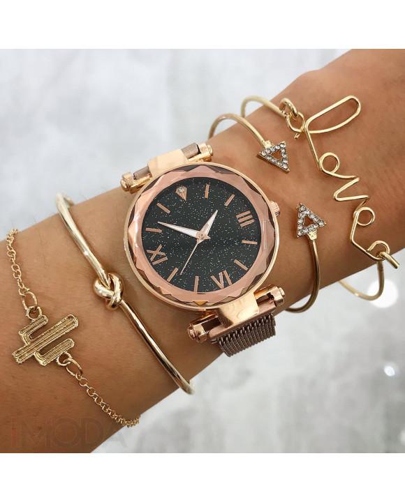 Dámske hodinky+ set bižu náramkov-212156-20
