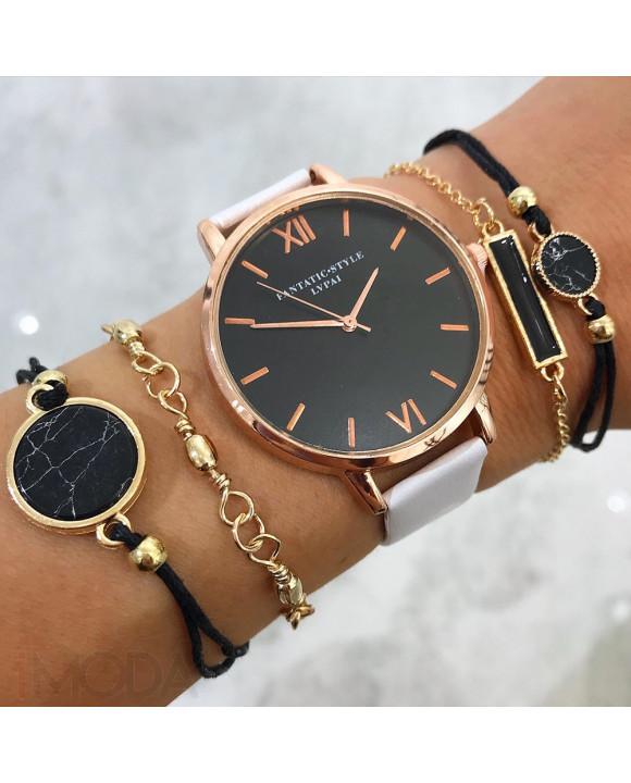 Dámske hodinky+ set bižu náramkov-212102-20