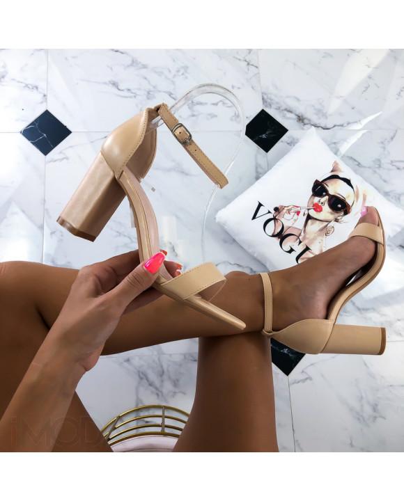 Béžové elegantné sandále-215056-20