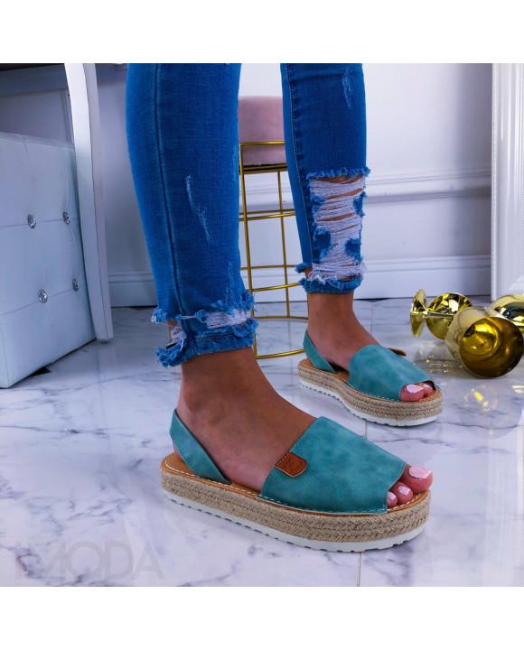 Modré dámske sandálky-210972-20