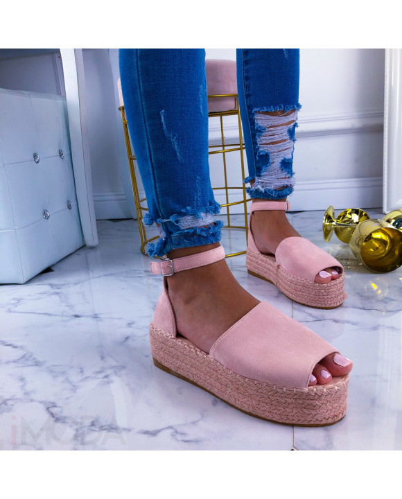 Ružové dámske sandále-210894-20