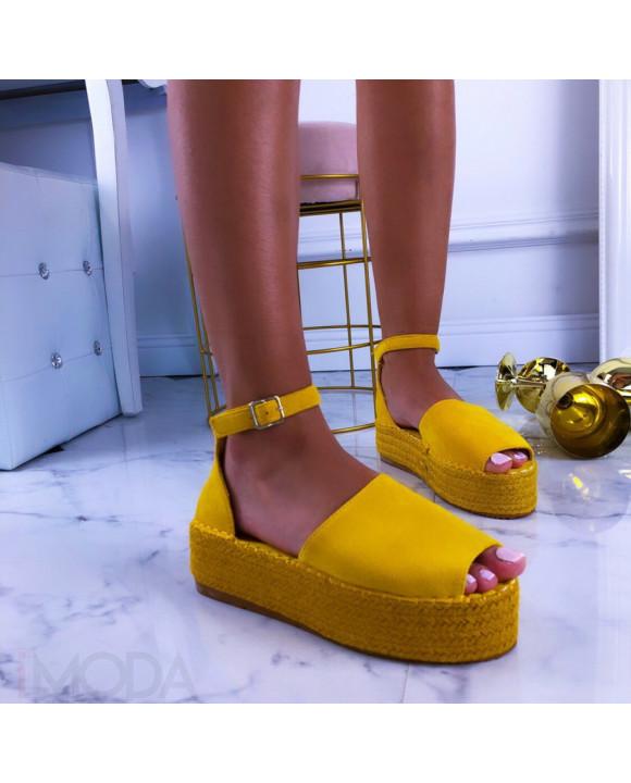 Žlté dámske sandále-210887-20