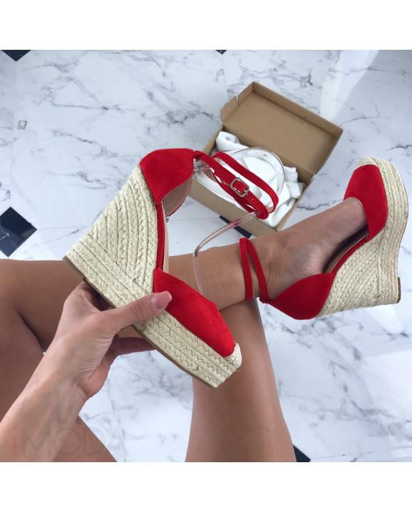 Červené sandálky na platforme-205907-20