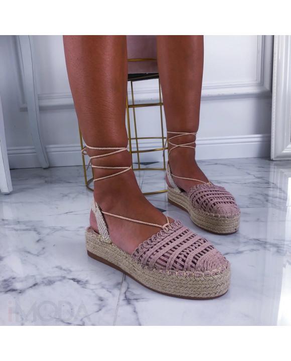 Béžové sandálky na platforme-211422-20