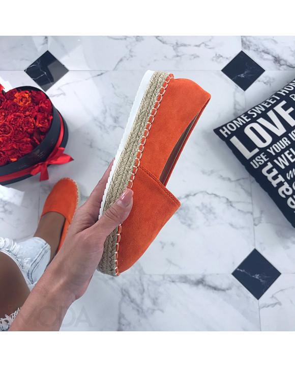 Dámske oranžové espadrilky-206384-20