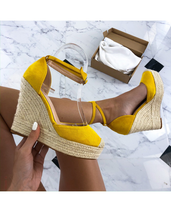 Žlté sandále na platforme-212490-20