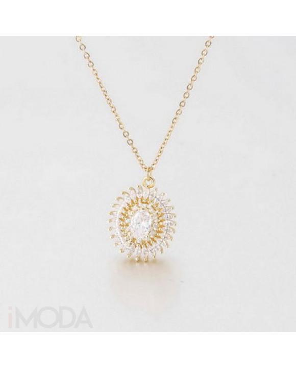 Pozlátený oceľový náhrdelník-213793-20