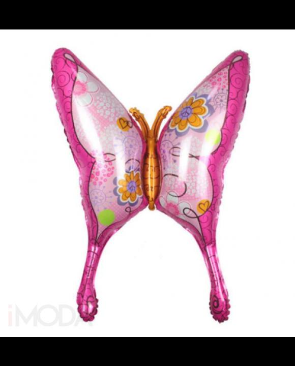 Balón v tvare ružového motýľa