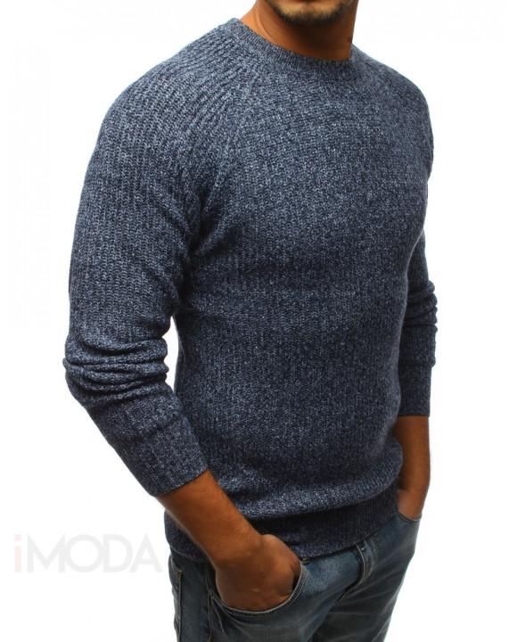 Pánsky modrý striekaný sveter-166603-20