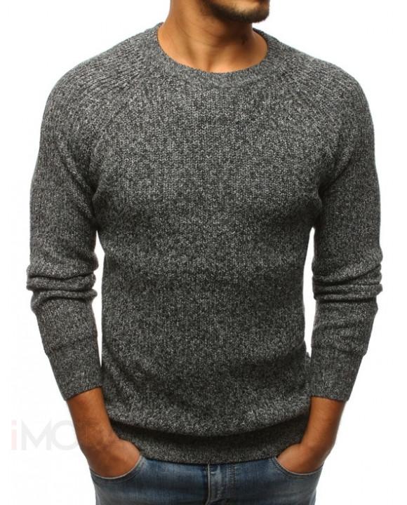Pánsky sivý striekaný sveter-166607-20