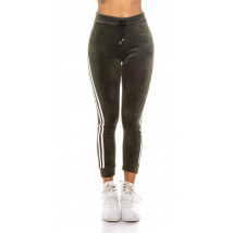 Zelené zateplené teplákové nohavice-229671-016