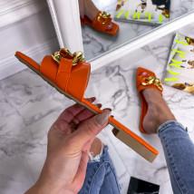 Oranžové šľapky s prackou-240233-019