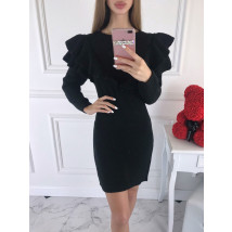 Čierne dámske pletené šaty-196156-013
