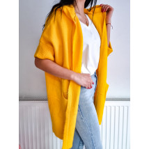 Žltý kardigán s kapucňou-231588-02