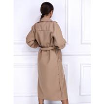 Béžový dlhý kabát-255916-03