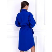 Tmavomodrý dlhý kabát-255917-01
