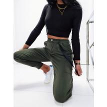 Zelené trendy nohavice-226077-02