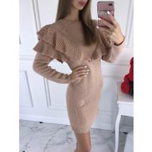 Ružové dámske pletené šaty-196154-08